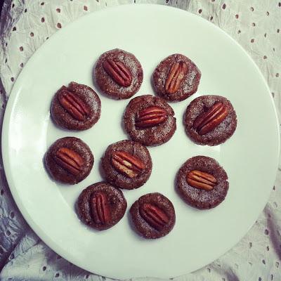 Raw Mini Pecan Pies