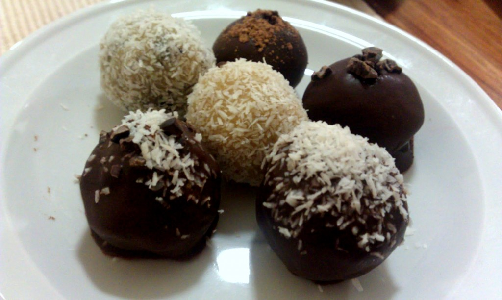Dark & White Chocolate Truffles on Homemade, Healthy, Happy