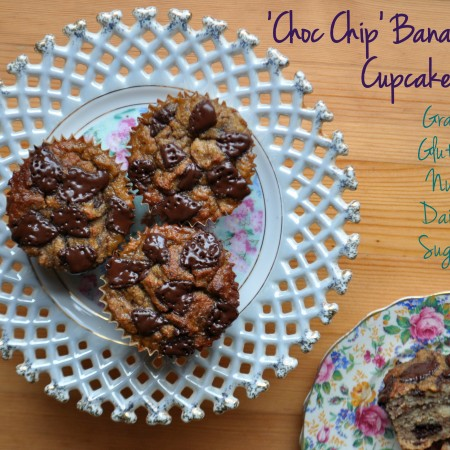 Grain Free Choc Chip Banana Bread Cupcakes on Homemade, Healthy, Happy
