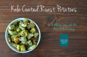 Kale Coated Roast Potatoes