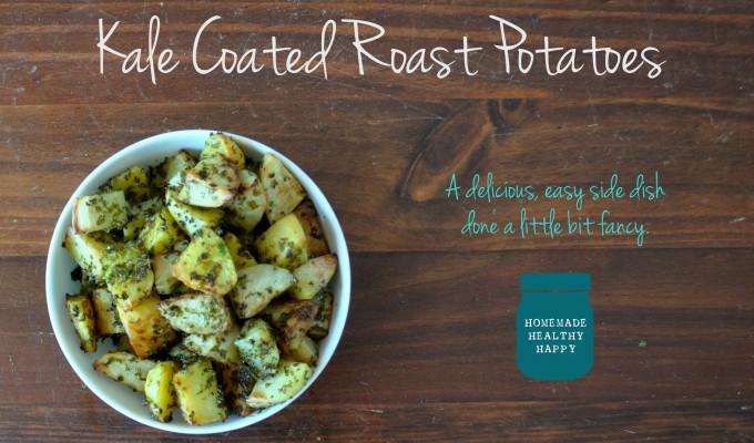 Kale Coated Roast Potatoes