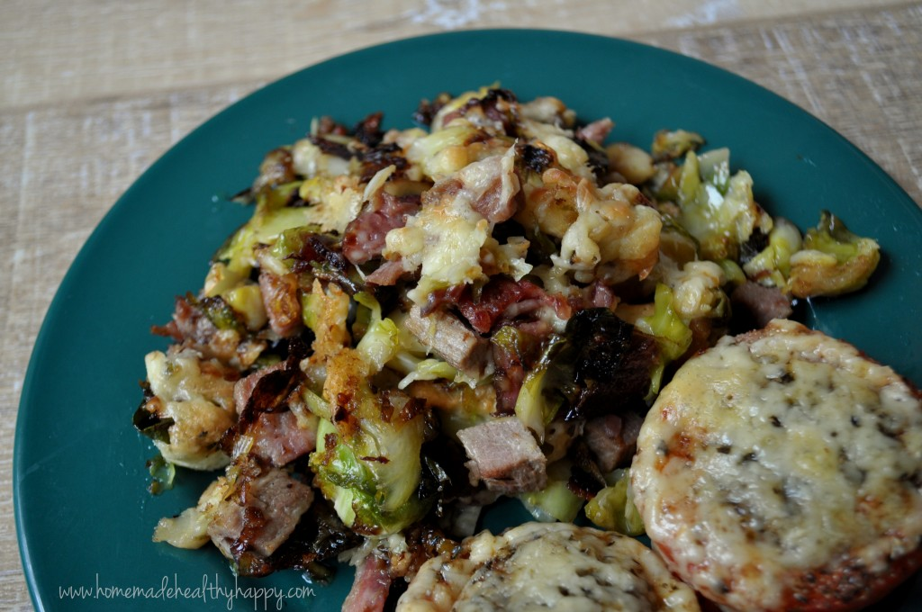 Cheesy Smashed Brussels Sprouts on Homemade, Healthy, Happy