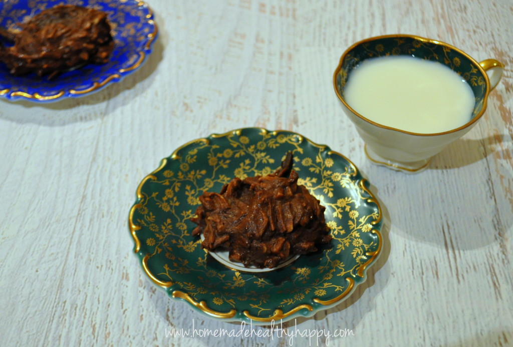3 Ingredient Choc-Coconut Fudge Cookies on Homemade, Healthy, Happy