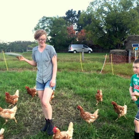 Feeding Chickens at Ginger & Brown Farmstead on Homemade, Healthy, Happy
