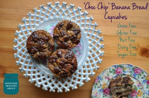 Choc Chip Banana Bread Cupcakes (Grain Free)