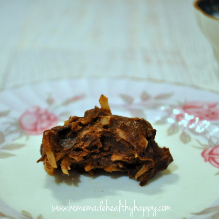 3 Ingredient Choc-Coconut Fudge Cookies on Homemade, Healthy, Happy
